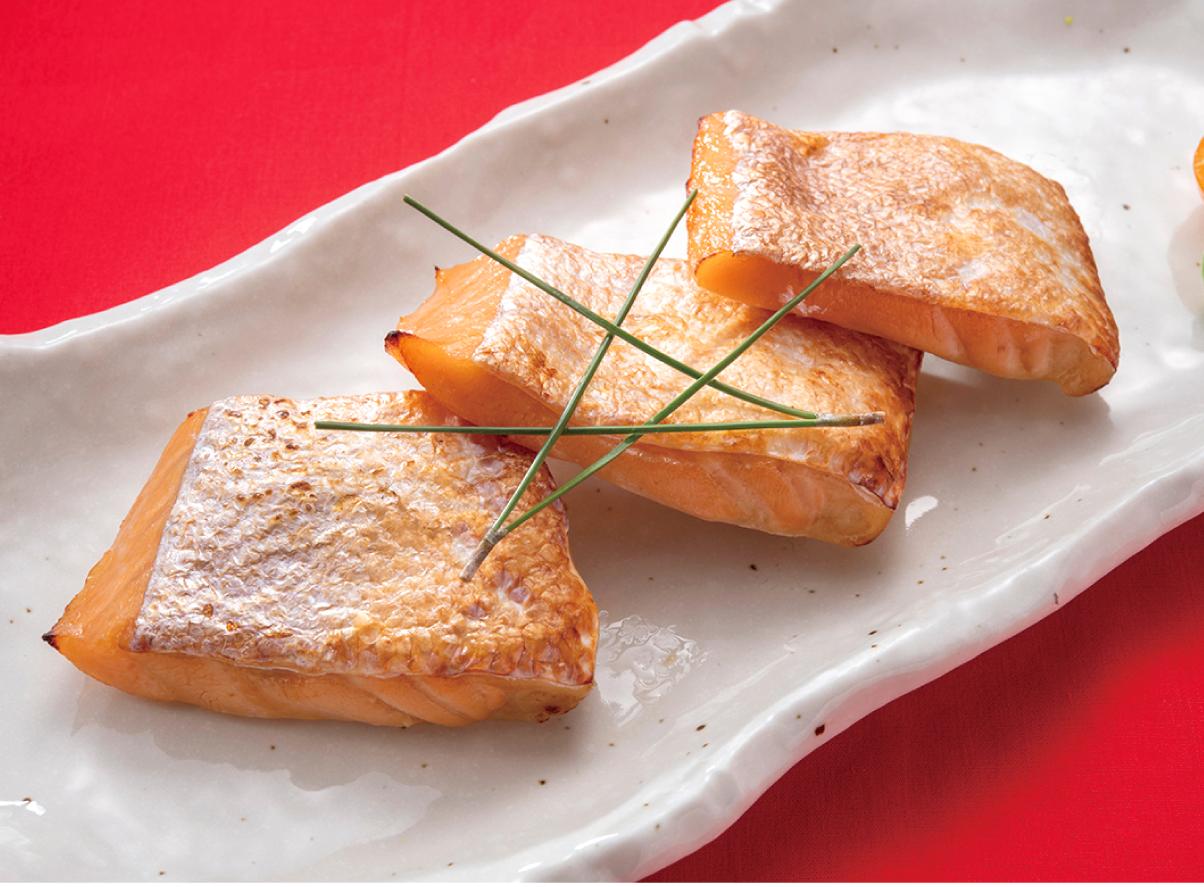 本日の焼魚 鮭ハラス塩麹焼き